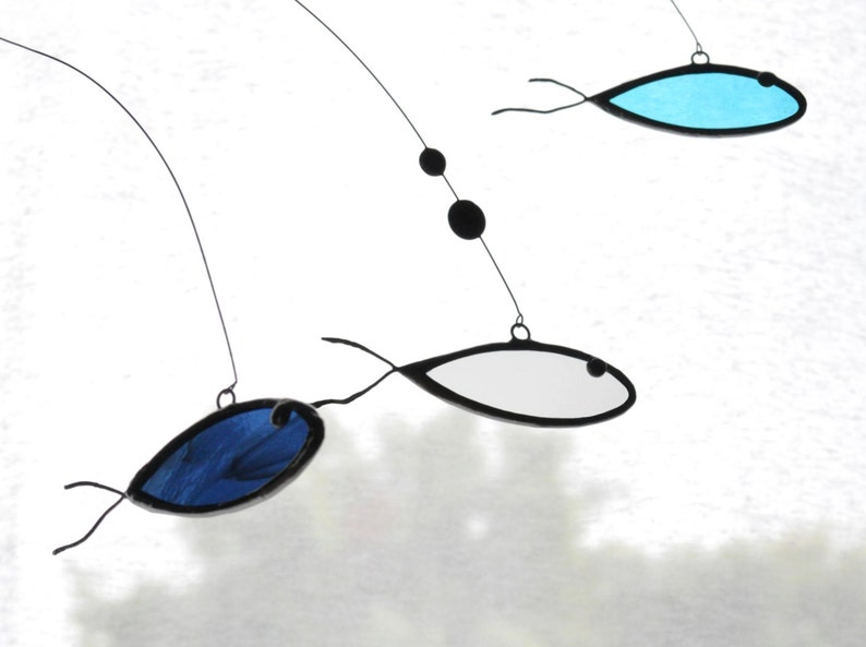 SuncatcherGlass suncatcherStained glassArt mobileFish image 0