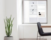 Black Alpha Mobile,Black hanging mobile,Art mobile,kinetic mobile,Mobile sculpture,Stained glass mobile,Black and white art,Suncatcher