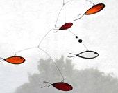 Fish Suncatcher,Glass suncatcher,Stained glass,Goldfish art,Art mobile,Fish mobile,Nursery mobile,Kids room decor,Beach home decor