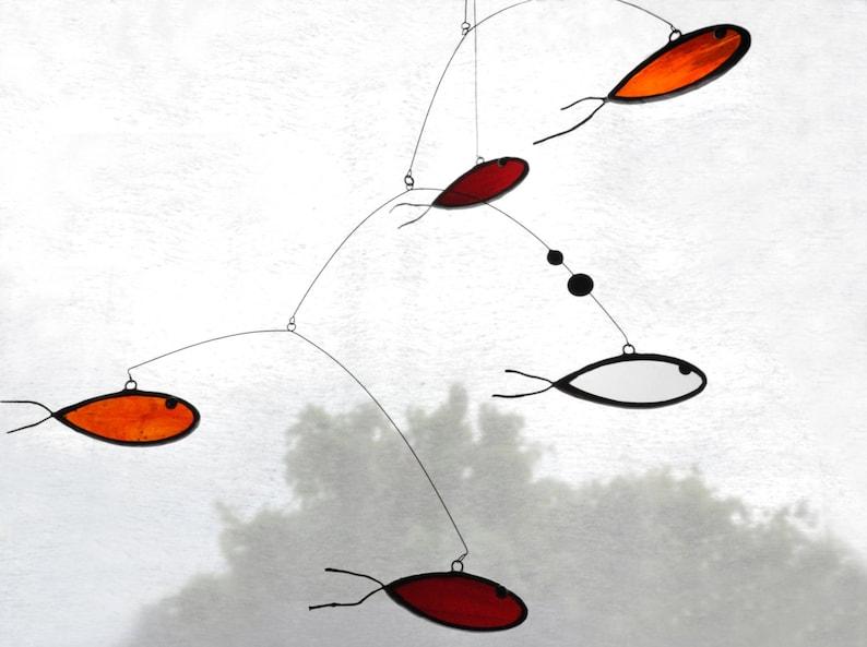 Fish SuncatcherGlass suncatcherStained glassGoldfish image 0