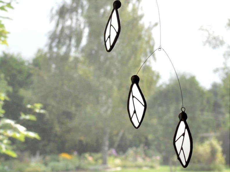 Stained glass suncatcher Black and white suncatcherBlack and image 0