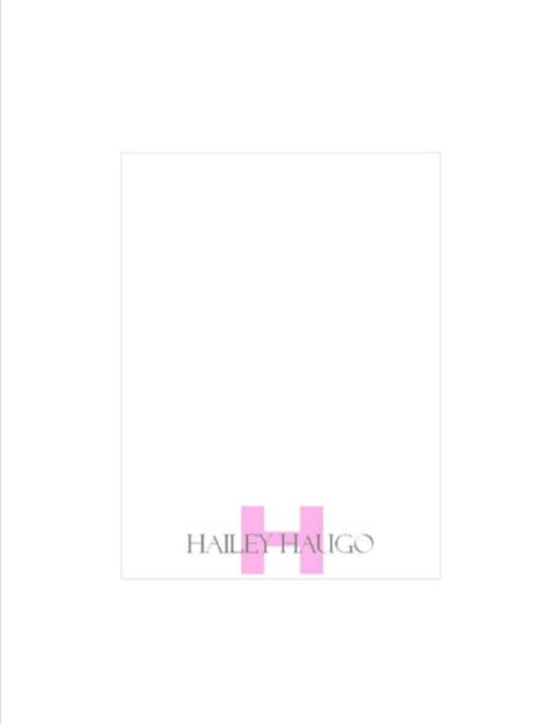 Personalized MONOGRAM INITIAL notepad Large Order DISCOUNTS