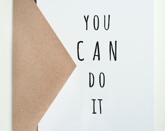 You CAN DO It   -- Card & Envelope Set