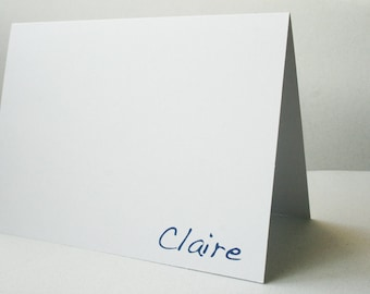 Personalized Stationery --  Claire --  Stationery Set of Custom Notes & Envelopes- CHOOSE your QUANTITY