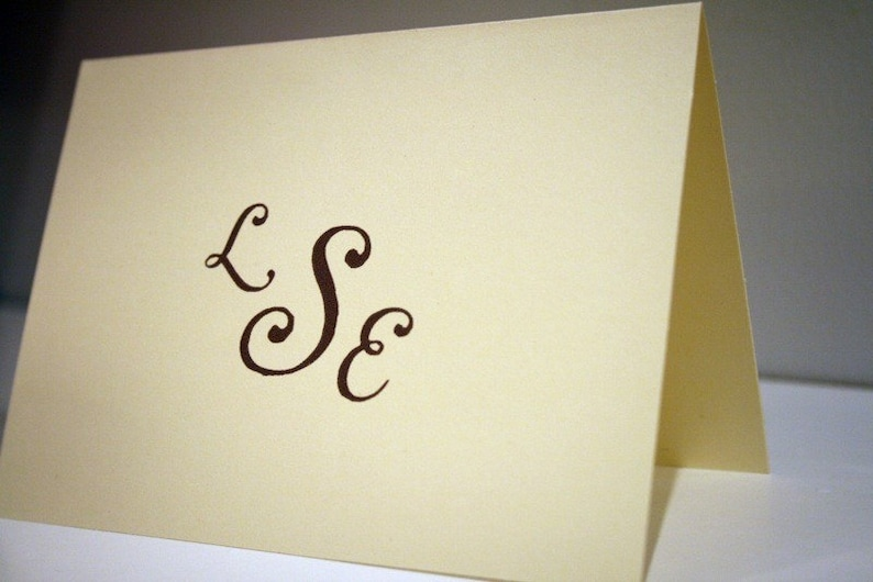 Personalized Stationery CHOOSE your QUANTITY Monogrammed Stationery Set The Pearls