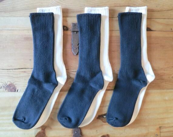 3x Organic Cotton Crew Socks