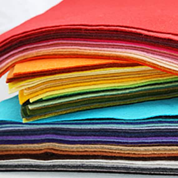 Wool Felt 12x18 20 sheets Wool Blend Felt Choose Your Own Colors