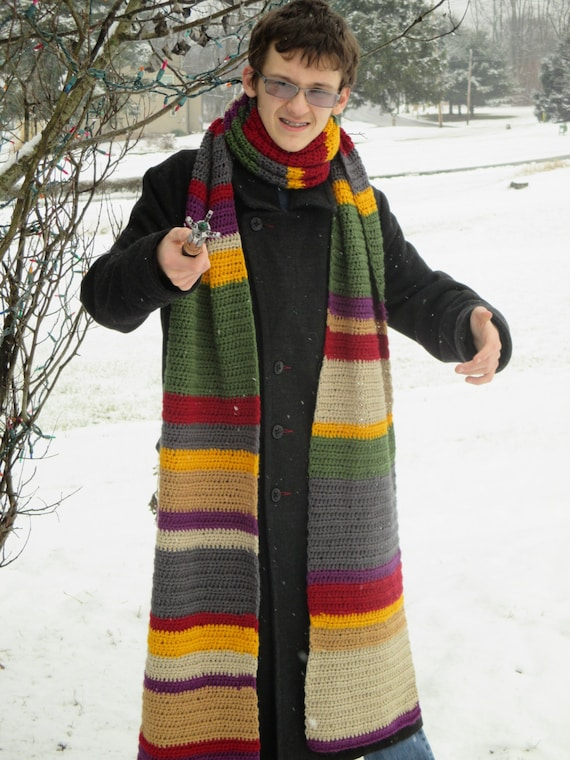 4th Doctor Who Scarf Pattern Crochet Digital File Etsy