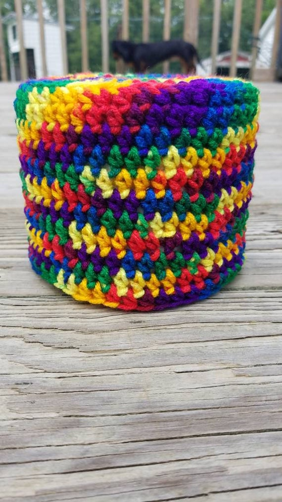 Rainbow Toilet Paper Cover Cozy Holder Tissue Paper Etsy