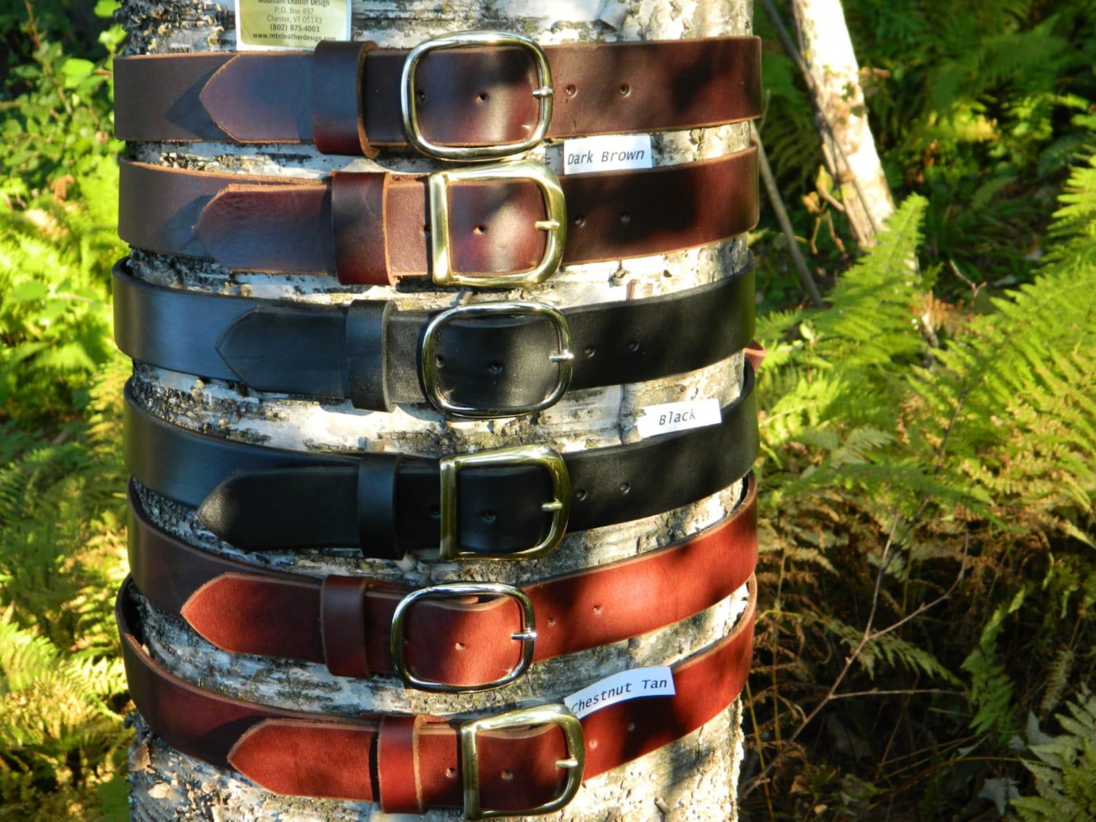 Western Leather Ranger Belt