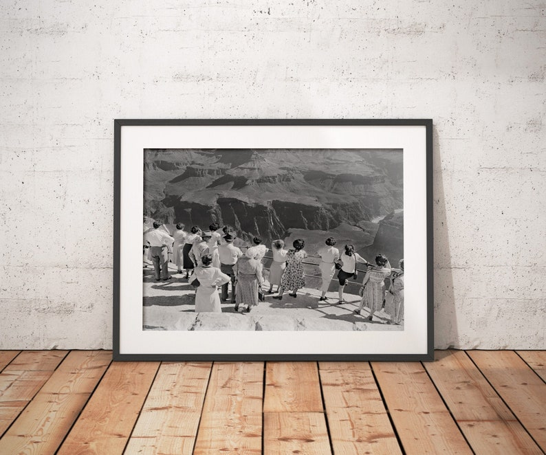 Vintage Grand Canyon Photo Fine Art Print from original 1950s image 0
