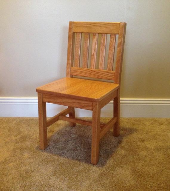 Seat H Honey Brown Oak Solid Wood Kids, Small Childrens Furniture