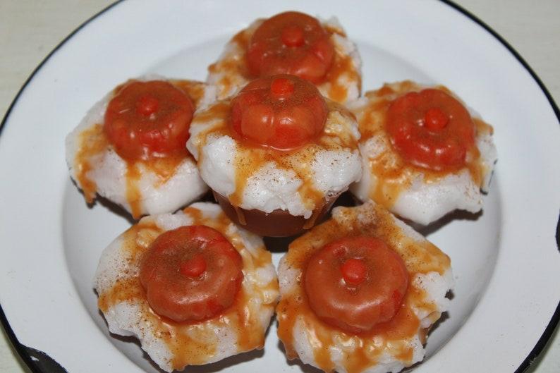 Bowl Fillers Pumpkin Caramel Latte Primitive Grubby Pumpkin Holiday Cupcake Scented Wax Tarts Melts