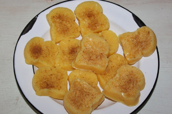New PUMPKIN FRENCH TOAST Type Scented Primitive Bread Slice Wax Tarts Melts Bowl Fillers Highly Scented