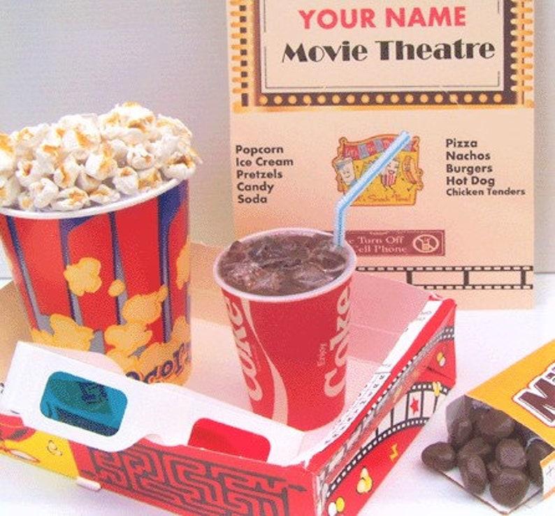 Fake Food POPCORN COKE Movie Theater Decor