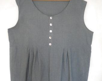 c6e436ee76e plus size linen tunic sleeveless linen top boho linen tunic lagenlook linen  tunic top made to order