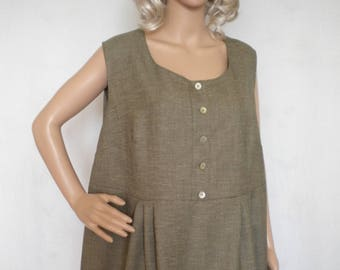 417a64c821c plus size linen tunic sleeveless linen top boho linen tunic loose fitting linen  tunic top made to order
