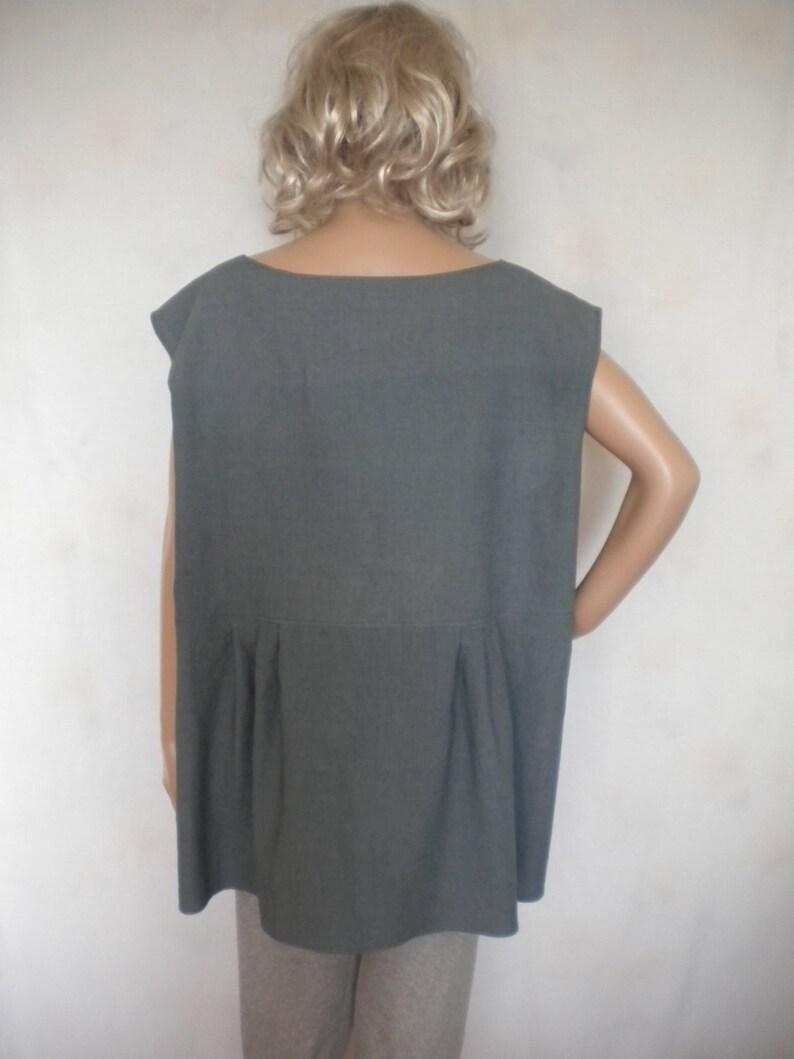 7932f53edec Plus size linen tunic sleeveless linen top boho linen tunic | Etsy