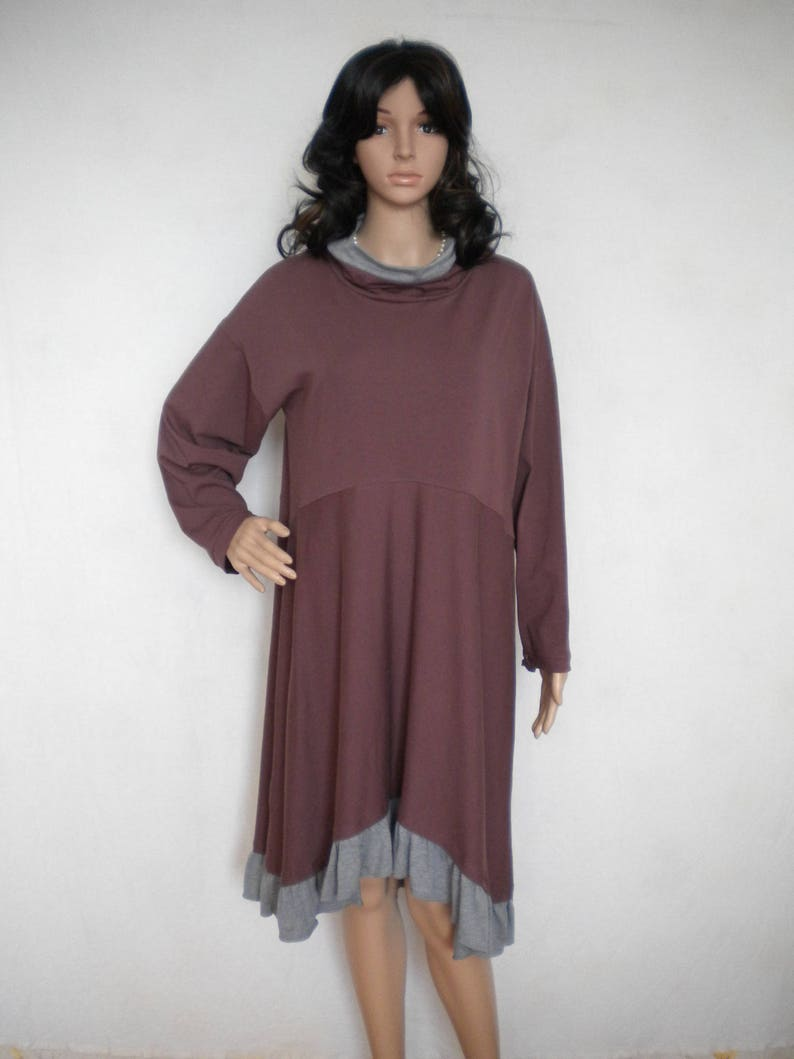 cb00eef661e6f SALE cowl neck dress tunic asymmetric ruffle dress top long | Etsy
