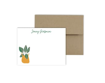 Classic Monogram Flat Notecards - Correspondence Card Stationery - Personalized Card Stationary - Thank You Notes, FLAT CARDS