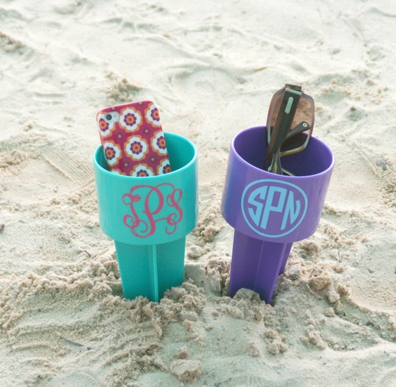 Monogrammed Beach Spiker for Drinks Personalized Beach Cup Sand Spike Beach Drink Holder