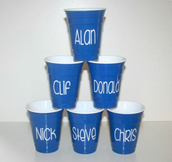 monogrammed solo cups for bridesmaids 16 oz personalized solo etsy