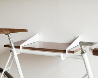 Velostirrups | wall mounted bike rack and shelf
