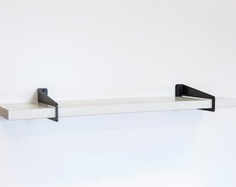 Wallstirrups-Shelf Bracket-Heavy Duty Bracket-Steel Shelf Bracket-Modern Shelf Bracket-Contemporary Shelf Bracket-Shelf System-Office Shelf