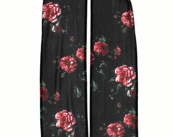 Gothic Roses Print Scarf, Painted Blood Drops, Lolita, Creepy