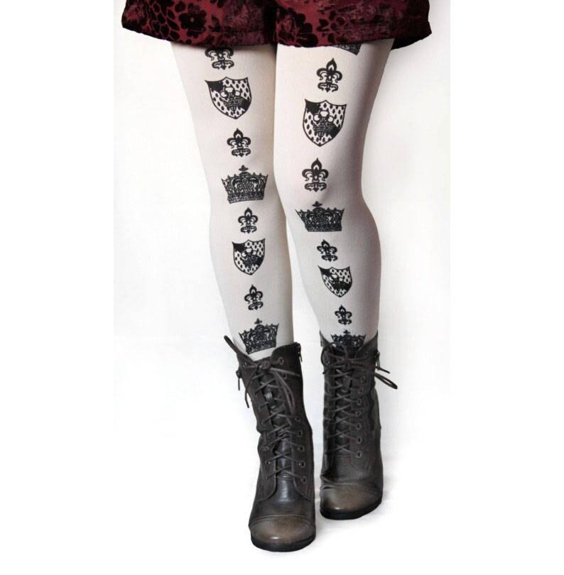 da07505438e Gothic Lolita Tights Crown Pattern. All Sizes Small Medium