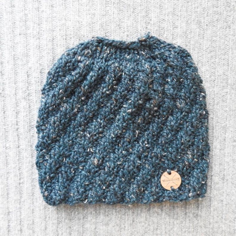 Messy Bun Beanie YOU CHOOSE COLOR Top Knot Adventure Beanie Toque Unisex Wool Ponytail Hat Hand Knit Gift for Women by WormeWoole