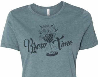 Craft Beer Shirt, Brew Time, Beer Girl Shirt, Craft Beer Shirt for Woman, Homebrewer Tshirt, Women's Graphic Tee, Beer Geek, Women Brew Too