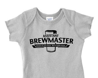 Fathers Day Gift, Couples Baby Shower Gift, Baby Announcement Brewer, Home Brewed, Homebrewer, Assistant Brewmaster, Expectant Parent Gift