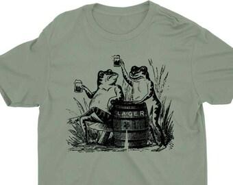 Oktoberfest Beer Drinker Shirt//Frogs Drinking Shirt for Octoberfest// Prost Shirt // St Patricks Day// Cheers Shirt// Retro Brewing Shirt
