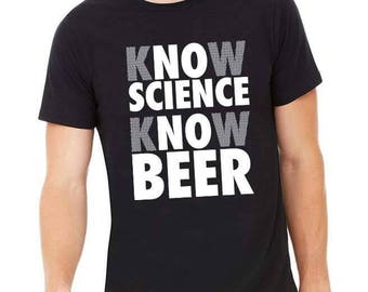 No Science No Beer Shirt, Brew Day, Brewmaster, Craft Beer Tshirt, Homebrewer, Beer Brewing, Homebrew Lover, Beer Festival, Gift for Father