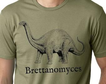 Homebrewer Shirt, Homebrewing Beer Shirt, Brewer Tshirt, Brewing Beer, Brettanomyces, Dinosaur Shirt, Homebrew, Christmas Gift