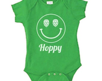 Hoppy Craft Beer Baby Bodysuit, Couples Baby Shower, Beer Lovers Baby Announcement, Home Brewed, Beer, Brewmaster, Baby Onesie, Homebrewed