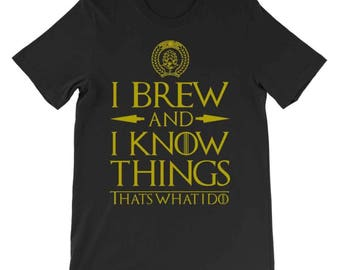I Brew and I Know Things, Official Brew Day, Homebrewer shirt, Homebrewing, Homebrew, Craft Beer Shirt, Beer Geek