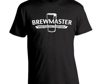 Gift for Dad, Brewmaster Homebrew Shirt, Homebrewer Gift, Craft Beer Shirt, Brewing Beer, Birthday Gift Dad Husband Boyfriend