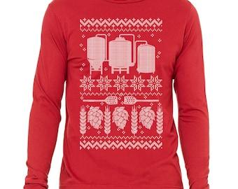 Ugly Christmas Sweater, Funny Beer Shirt, Brewing Beer, Homebrewer Gift, Ugly Brew Shirt, Homebrewing Gift, Craft Beer Shirt, Beer Gift