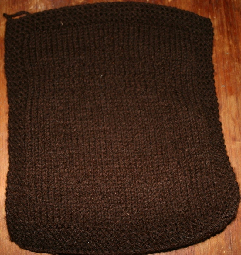 with Acorn Pattern Knitted Dishcloth