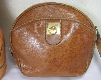Vintage Celine Paris Brown Leather Sling Bag Italy 7ef76b9c92dab
