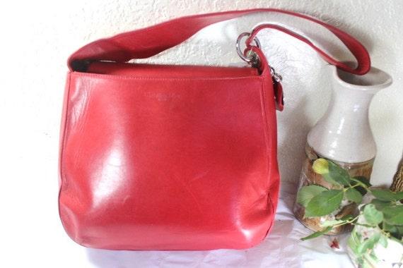 f978922c0498 Vintage Christian DIOR Red Leather Hobo Shoulder Bag w