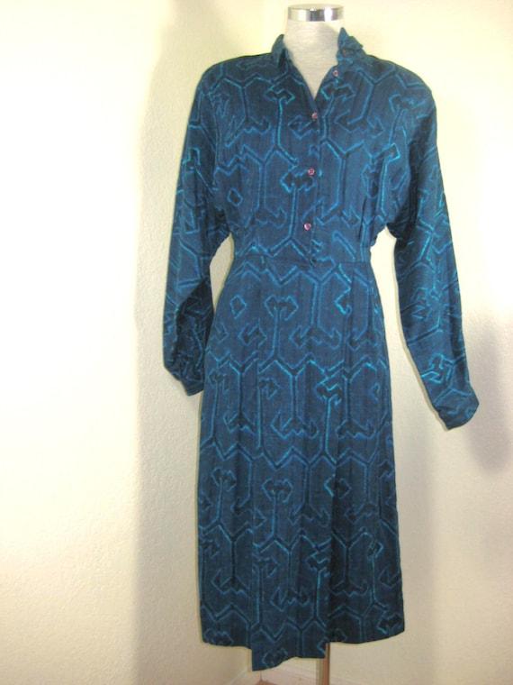 Vintage Anastasia France Longsleeve Printed Blue D