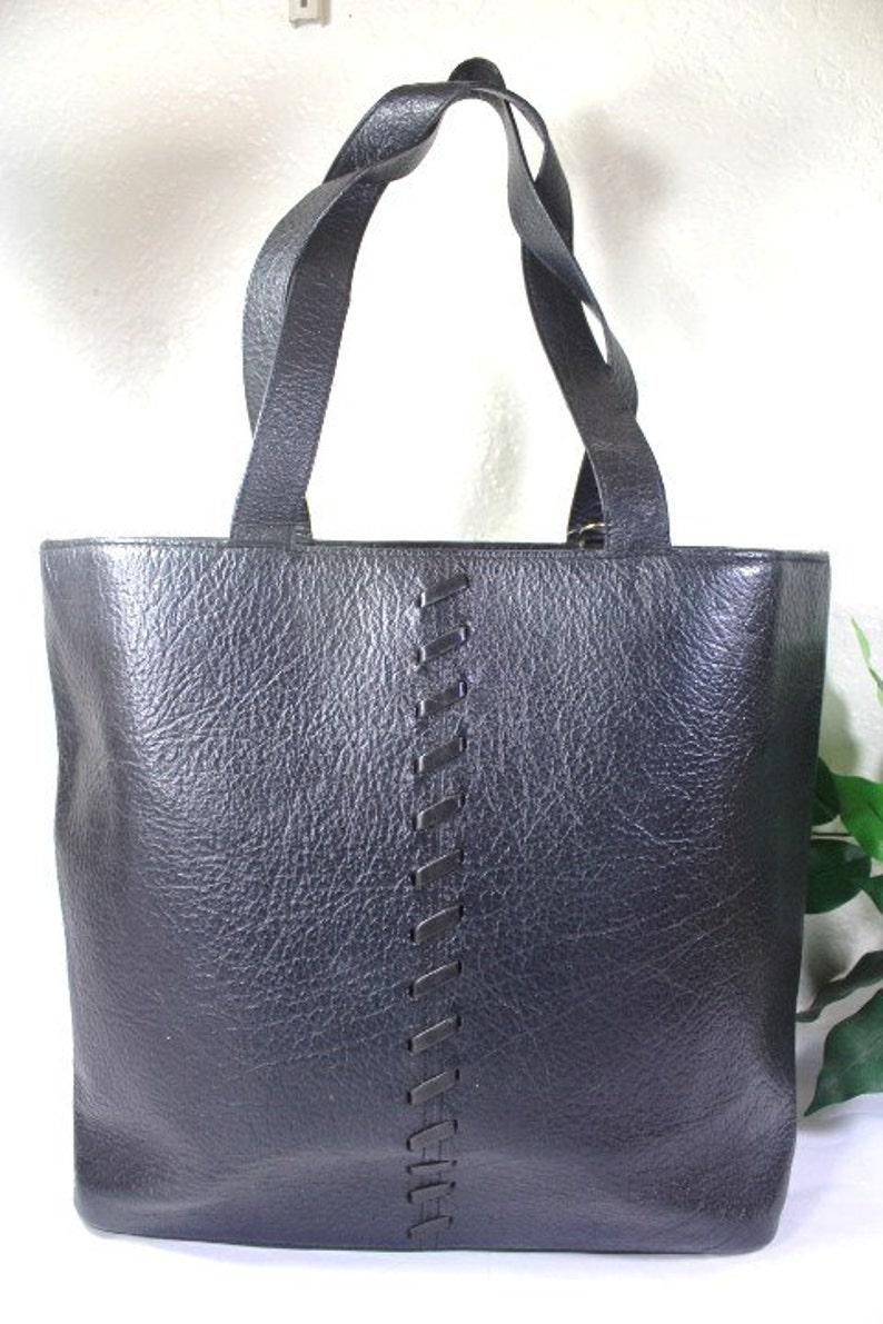 7d740f062a5 VIntage YSL Yves Saint Laurent Black Leather Western Style | Etsy