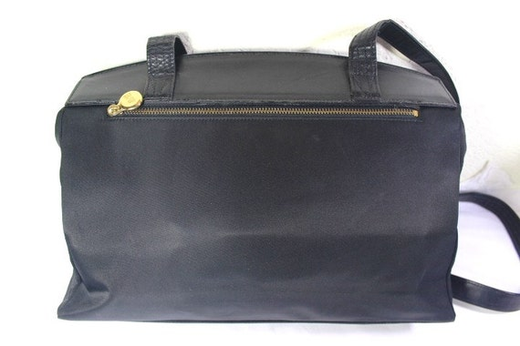 Vintage Gianni Versace Nylon   Leather Sunburst Satchel  6af851a629b6a