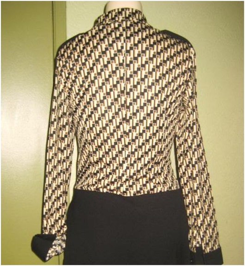 5 6 7 36 Vintage Gavin Studio New NWT Long Sleeve Belted Dress Sz