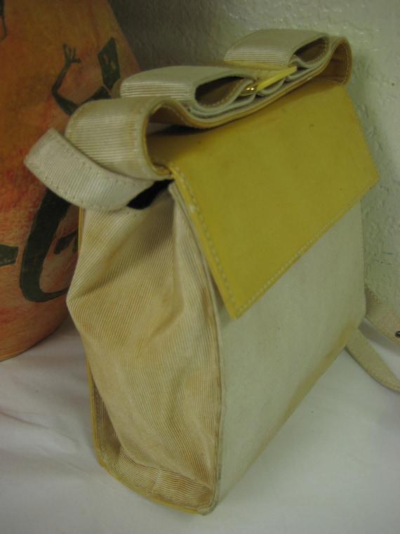 be23c95930 Vintage Small Salvatore Ferragamo Yellow Party Shoulder Bag
