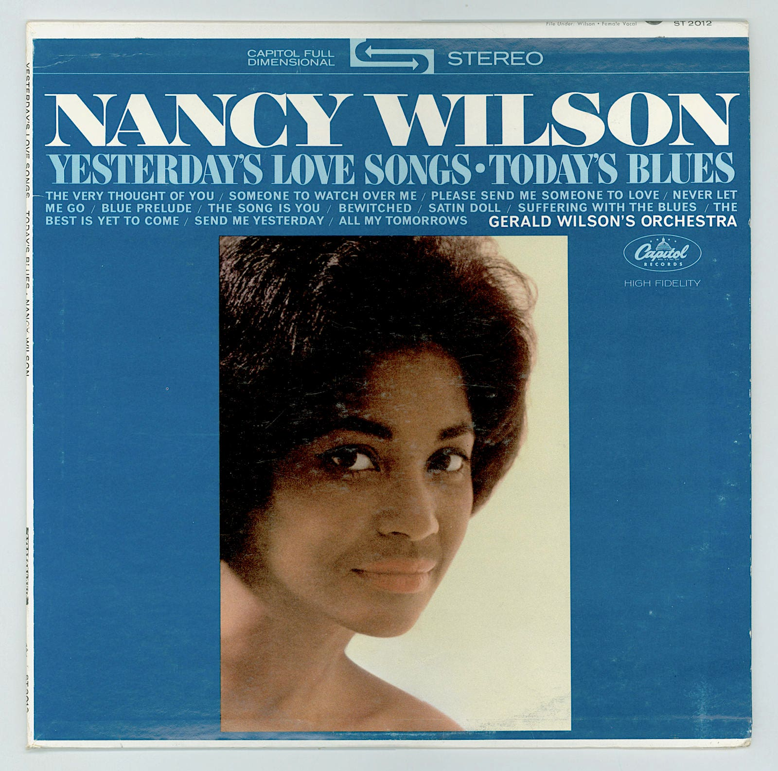 Nancy Wilson, Jazz Vocalist, Yesterday's Love Songs, Today's Blues Gerald  Wilson's Orchestra, Columbia LP Vintage Vinyl Record Album