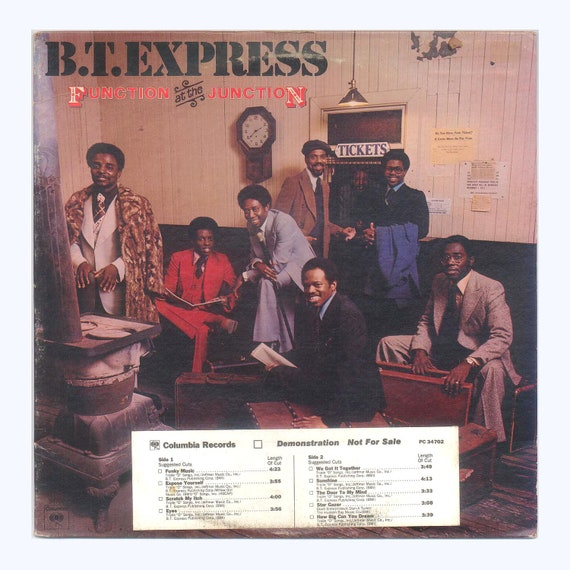 B  T  Express - Function at the Junction vintage Vinyl Record Album Soul  Funk Music Columbia LP